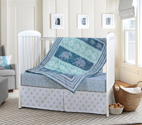 Elephant Dreams Baby Bedding Set