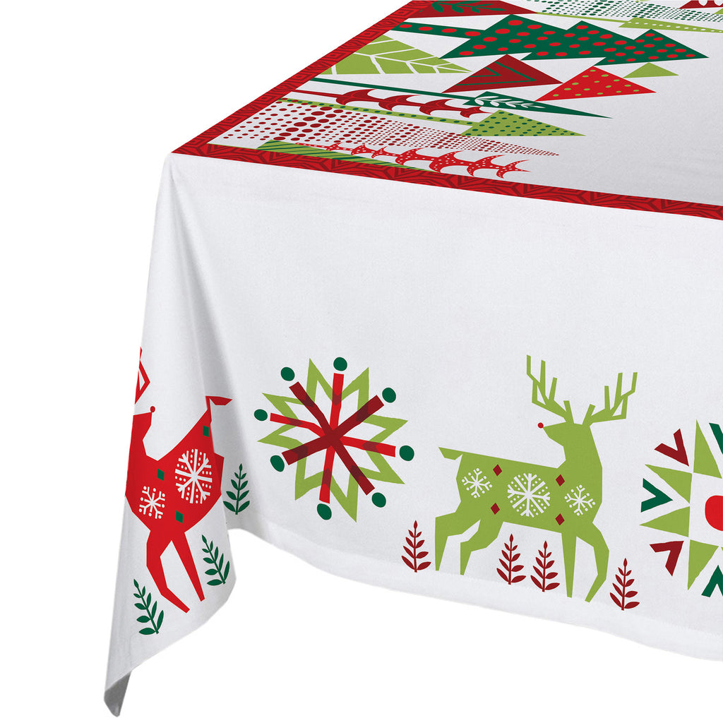 Geometric Christmas Tablecloth