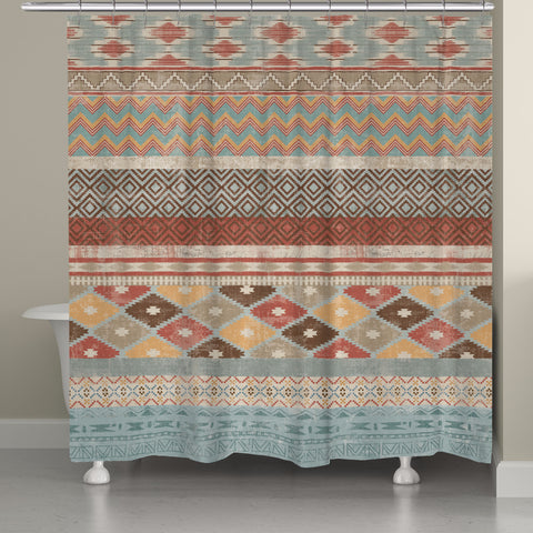 Navajo Stripe Multi Shower Curtain