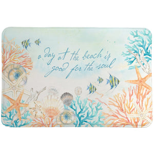 A Day at the Beach Memory Foam Rug