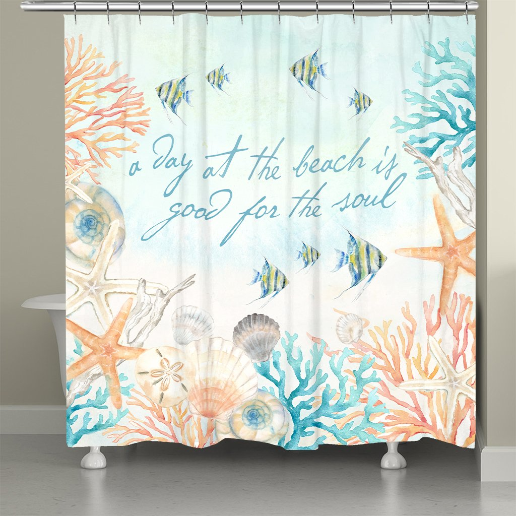 A Day At The Beach Shower Curtain
