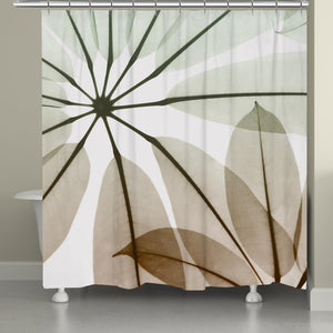 Earthy Brassy Shower Curtain
