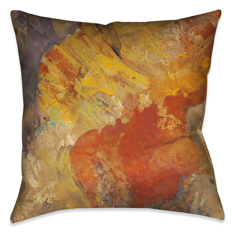 Abstract Amber II Outdoor Decorative Pillow