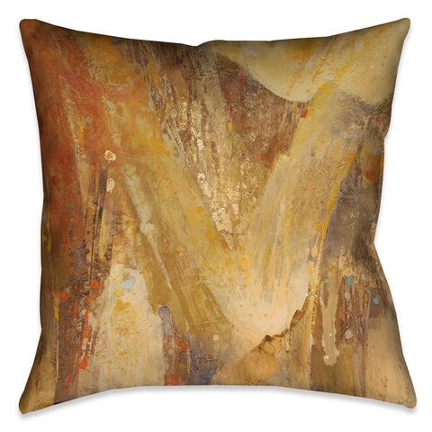 Abstract Amber I Outdoor Decorative Pillow