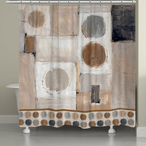 Abstract Balance Shower Curtain