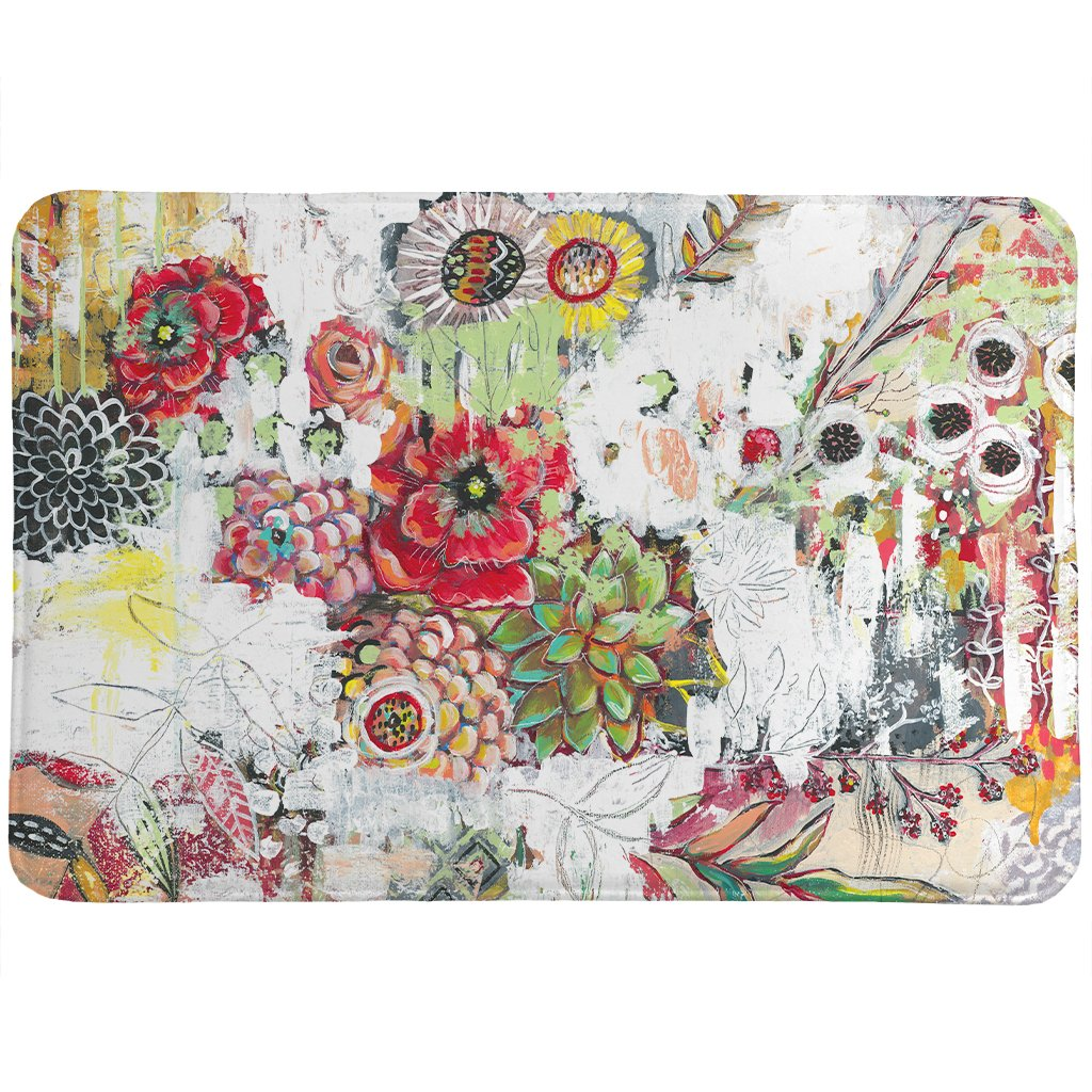 Abstract Bouquet Memory Foam Rug