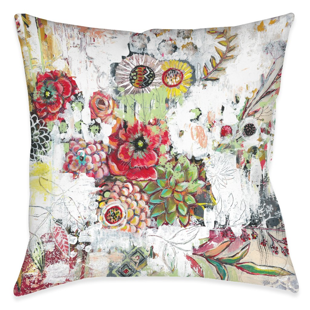 Abstract Bouquet Outdoor Decorative Pillow