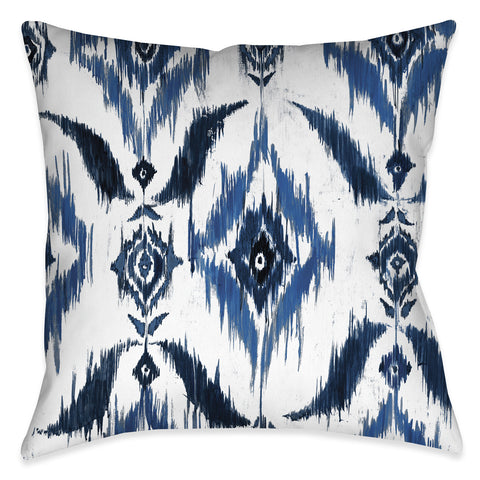 Indigo Ikat Indoor Decorative Pillow