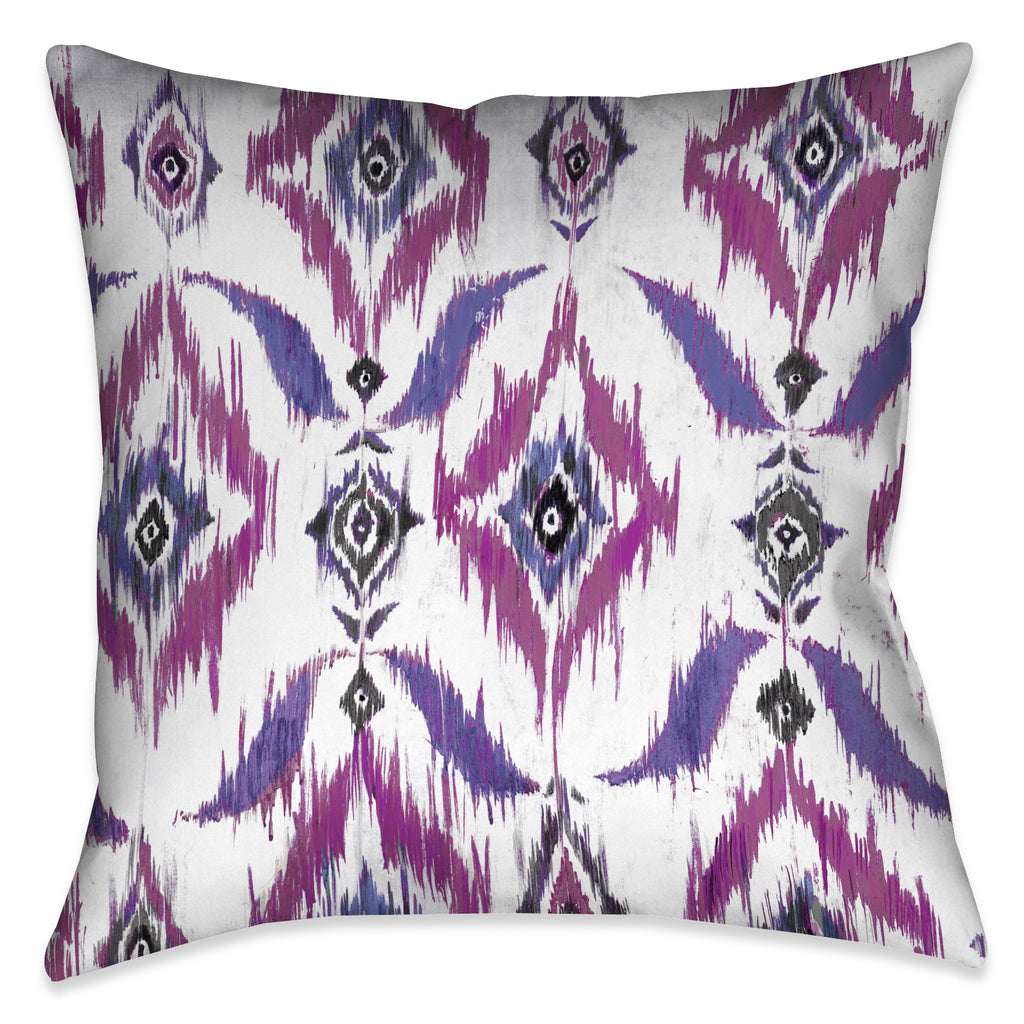 Purple Ikat Indoor Decorative Pillow