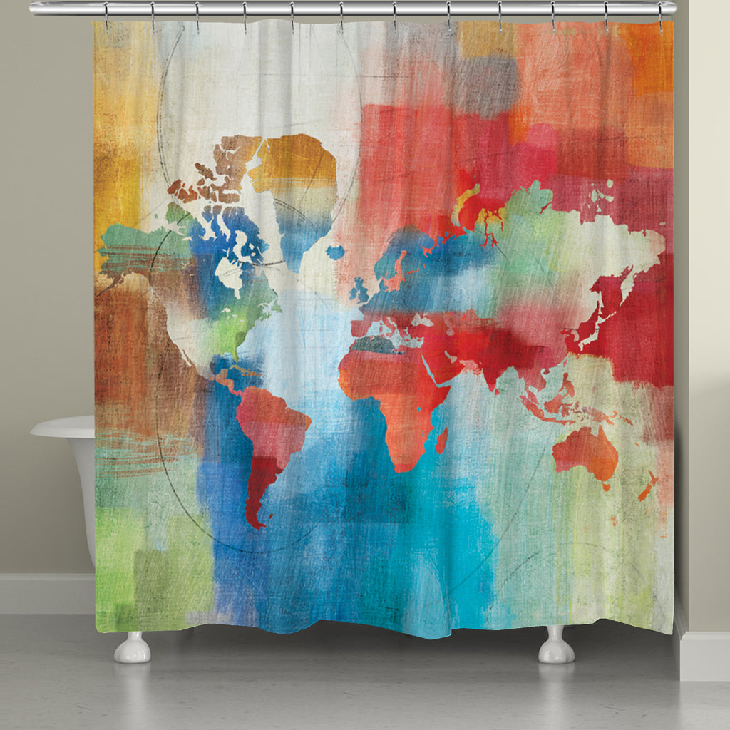 Seasons Change Abstract Shower Curtain Laural Home