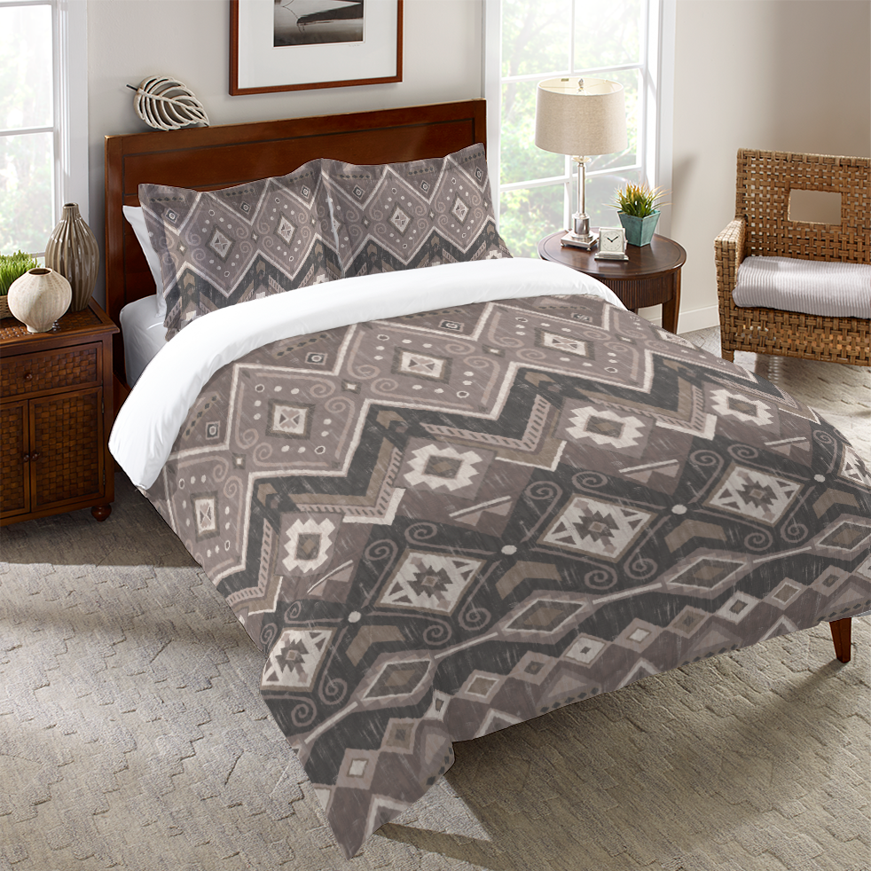 duvet pin white johnson allyson pattern cover black aztec and