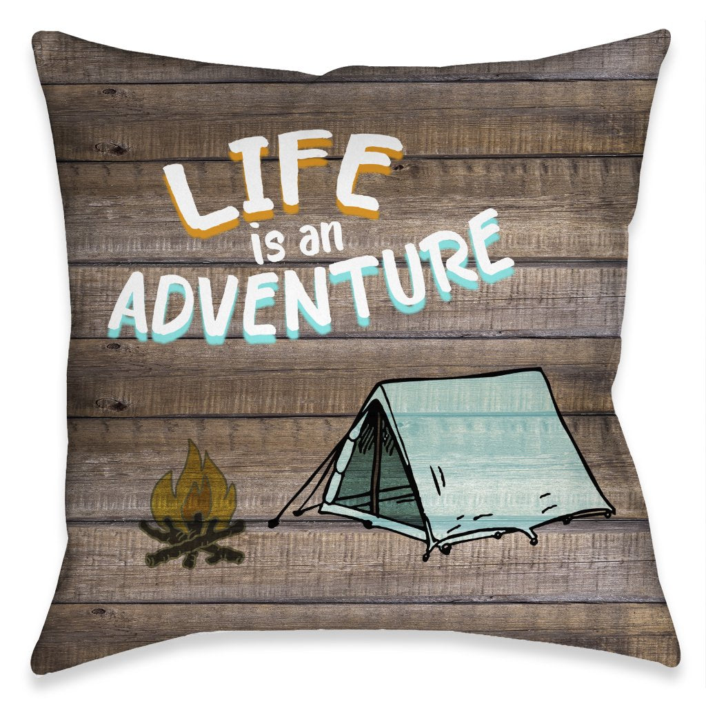 Adventure Life Outdoor Decorative Pillow
