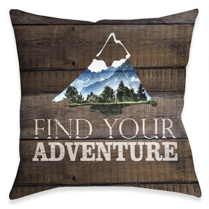 Adventure Mountain Outdoor Decorative Pillow