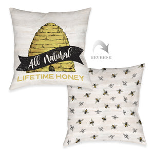 All Natural Outdoor Decorative Pillow