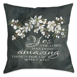 Amazing Things For Us Outdoor Decorative Pillow