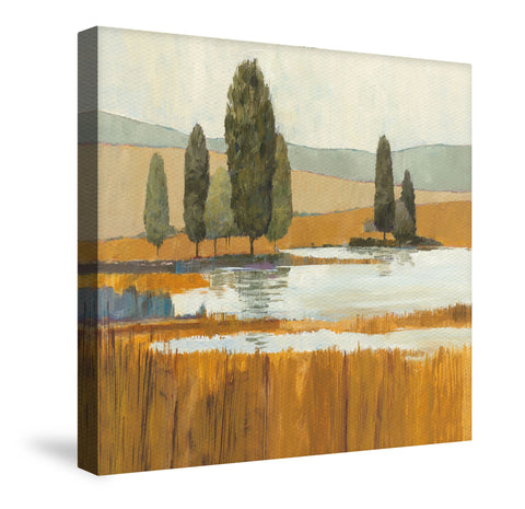 Amber Lake Canvas Wall Art