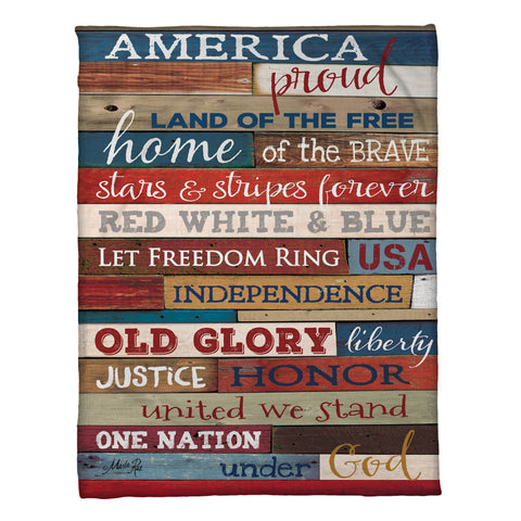 America Proud Fleece Throw