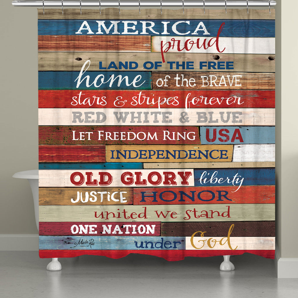America Proud Shower Curtain