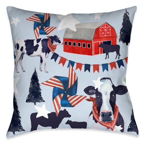 American Barn I Outdoor Decorative Pillow