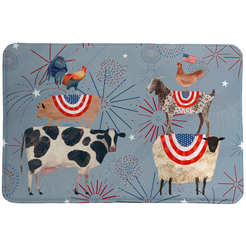 Americana Farm Animals Memory Foam Rug