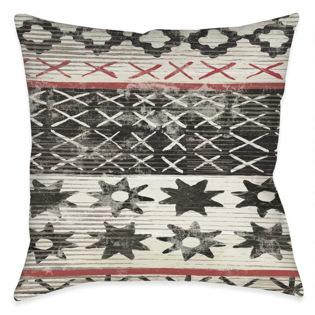 Ancient Markings Outdoor Decorative Pillow