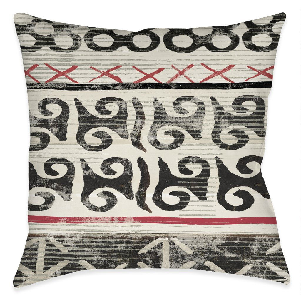 Ancient Stories Outdoor Decorative Pillow