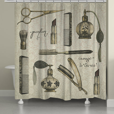 Antique Toilette Shower Curtain