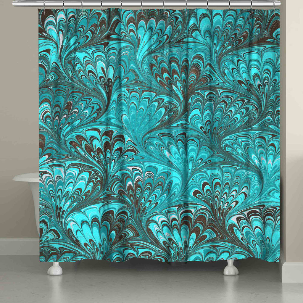 Aqua Marble Shower Curtain