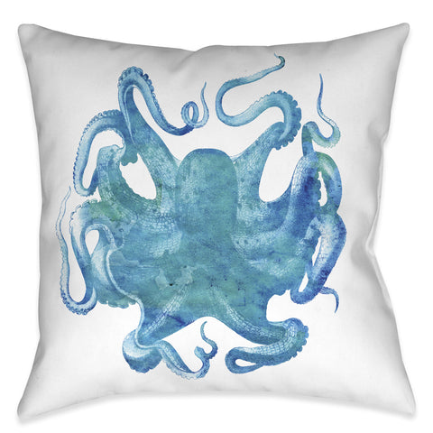 Aqua of the Deep Indoor Decorative Pillow
