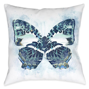 Artful Butterfly Wings Outdoor Decorative Pillow