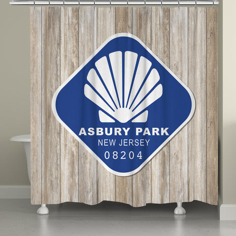 Asbury Park Shower Curtain