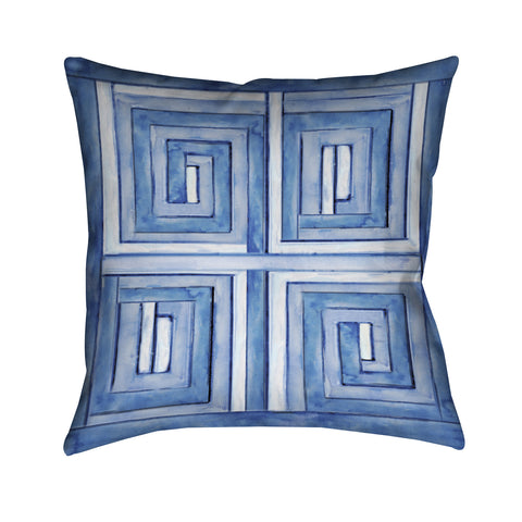 Asian Influence Outdoor Decorative Pillow