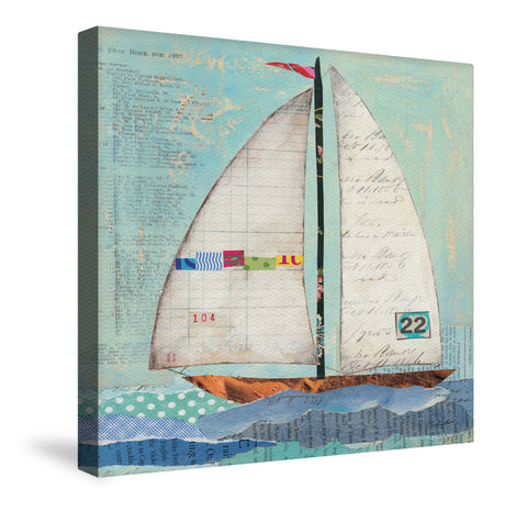 At the Regatta Canvas Wall Art