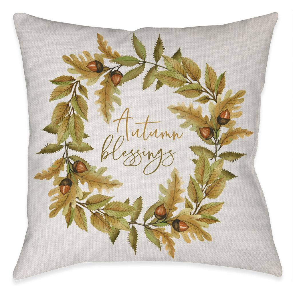 Autumn Blessing Outdoor Decorative Pillow