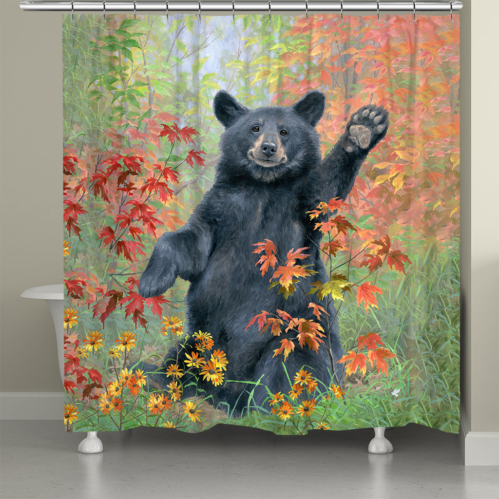 Autumn Greeting Shower Curtain