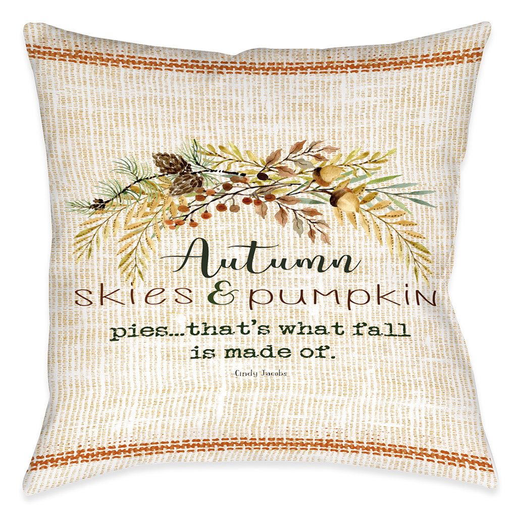 Autumn Skies Indoor Decorative Pillow