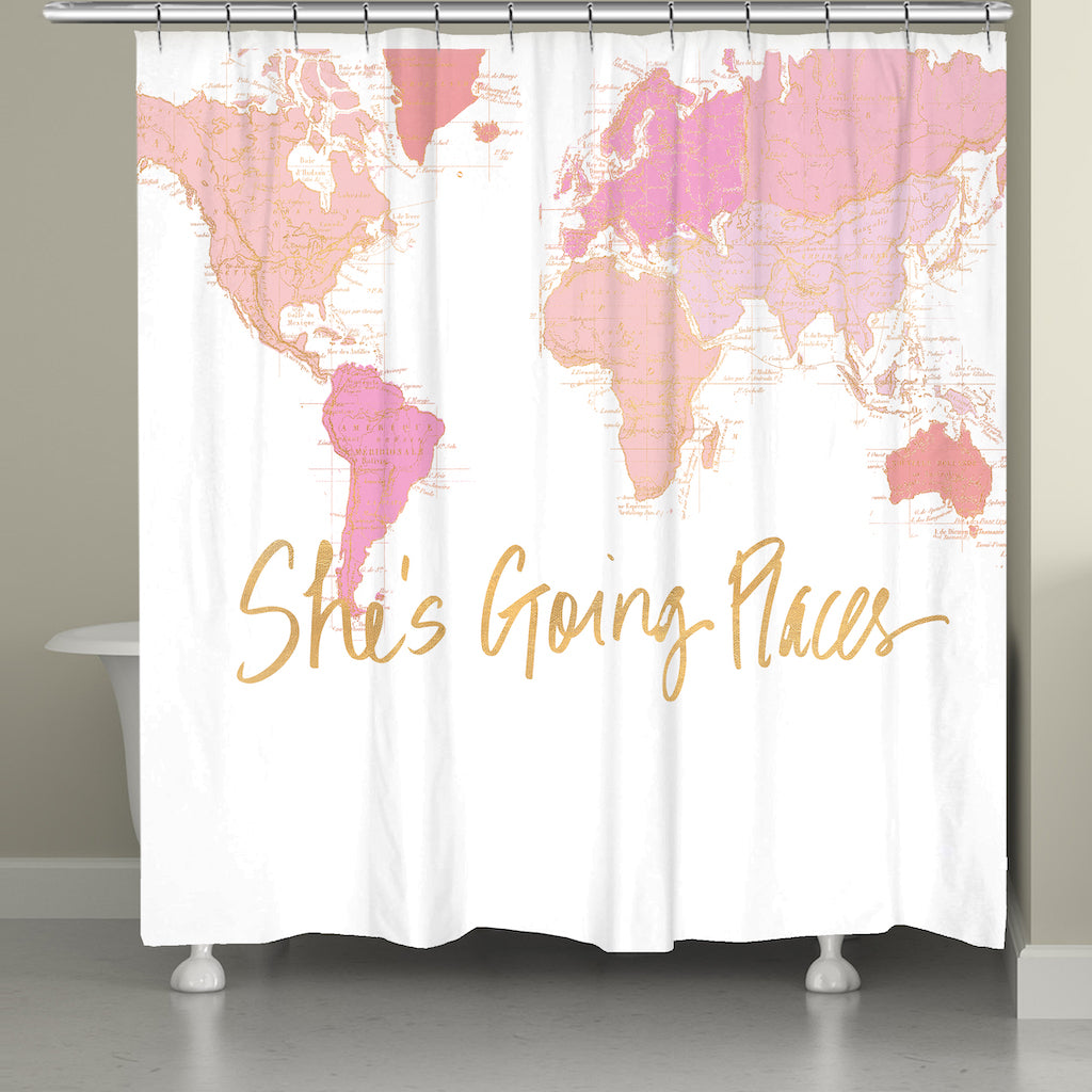 Away She Goes Shower Curtain