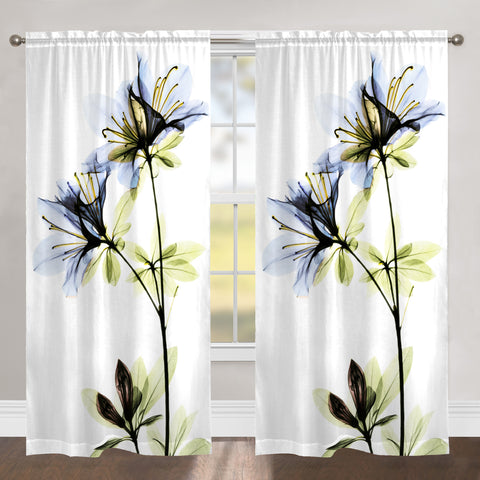 AZALEA BLUE X-RAY SHEER WINDOW PANEL