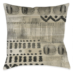 Aztec Markings Outdoor Decorative Pillow
