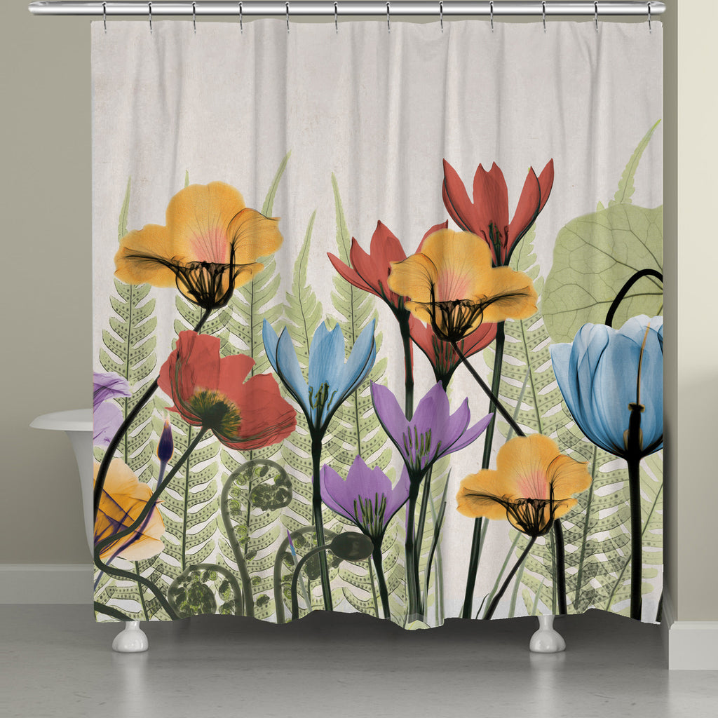 Flowers and Ferns Shower Curtain – Laural Home