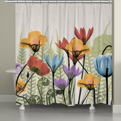 Flowers and Ferns Shower Curtain