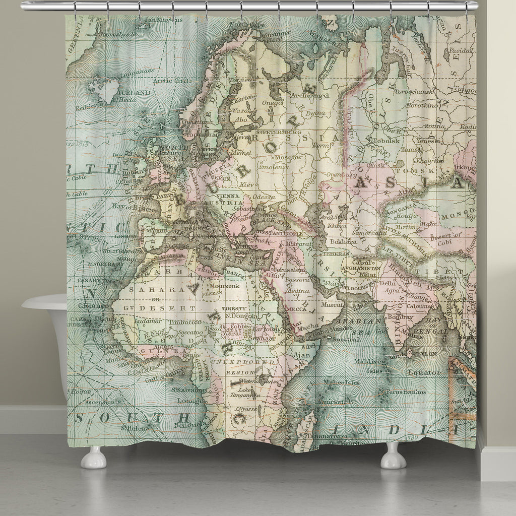 world map shower curtain. world map shower curtain – laural home