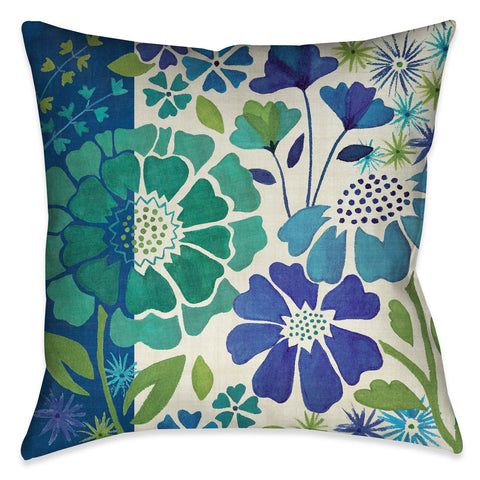 Blue Garden I Indoor Decorative Pillow