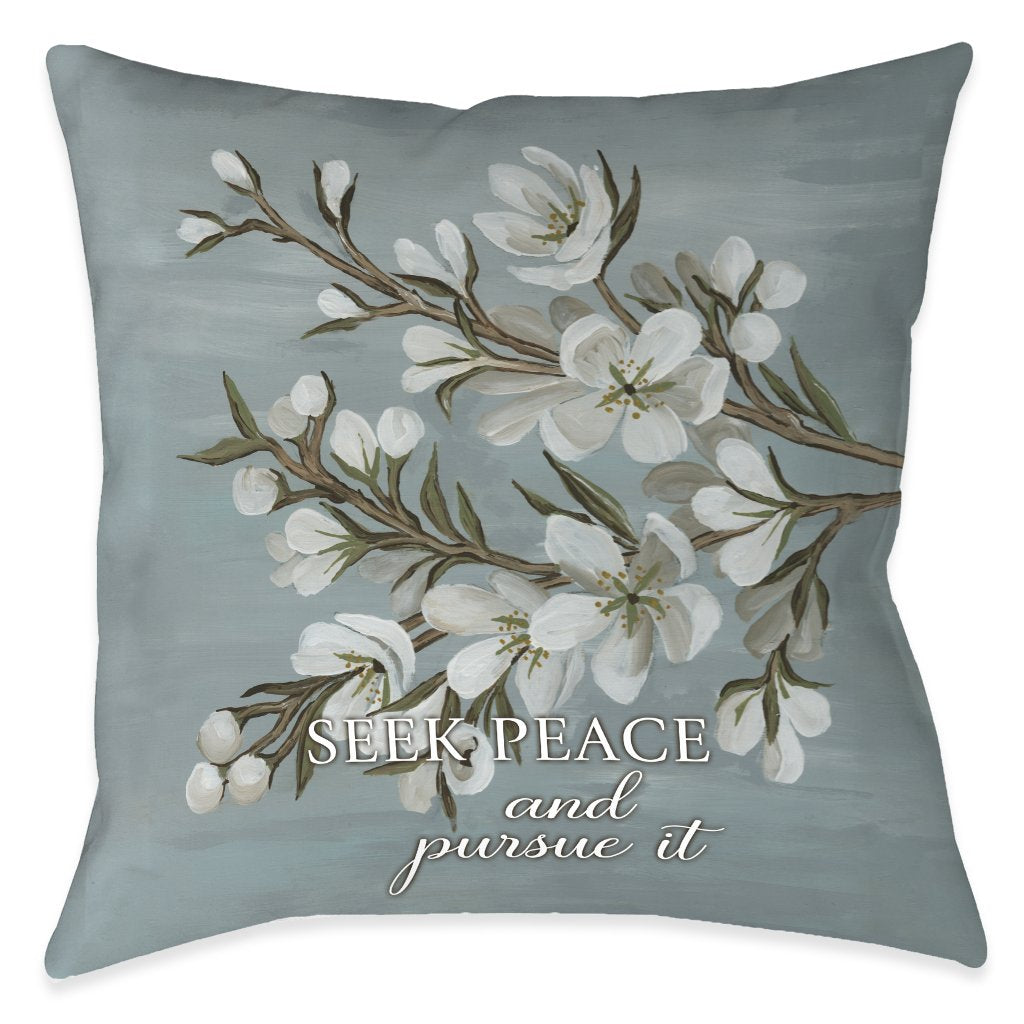 Be Done In Love Peace Outdoor Decorative Pillow
