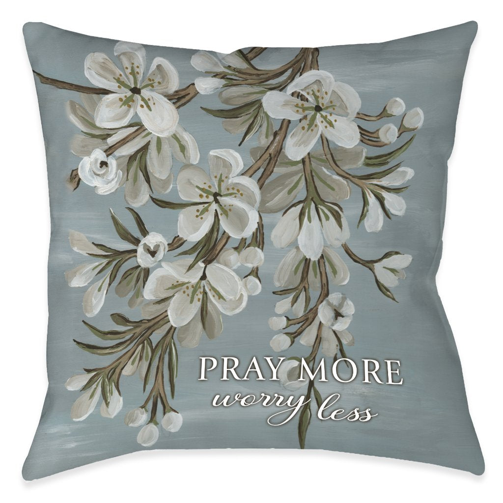 Be Done In Love Pray Outdoor Decorative Pillow