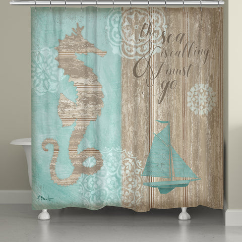Beach Boardwalk Shower Curtain