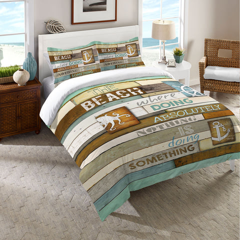 Beach Mantra Duvet Cover