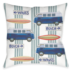 Beach Time Outdoor Decorative Pillow