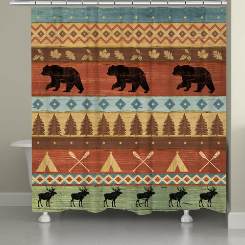 Bear Lodge Shower Curtain