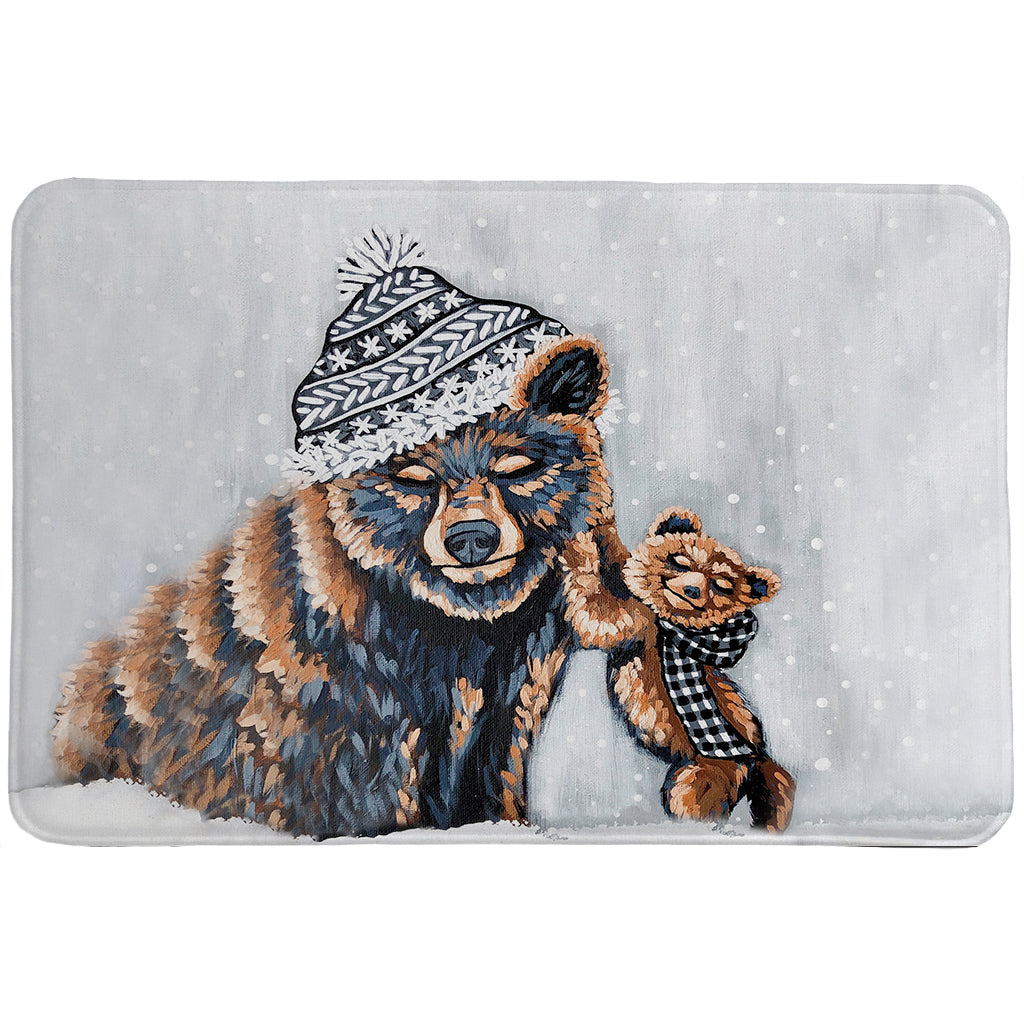 Bear Snow Day Memory Foam Rug